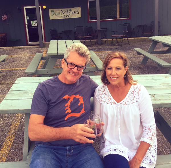 David and Holly of Grand Rapids, Michigan, stopped by Briali Winery in Fremont on their way home and enjoyed a glass of wine.