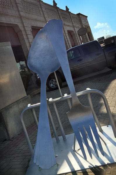 Bike Rack - Fork & Spoon