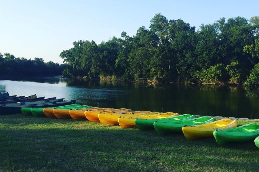 Kayaks on Colorado