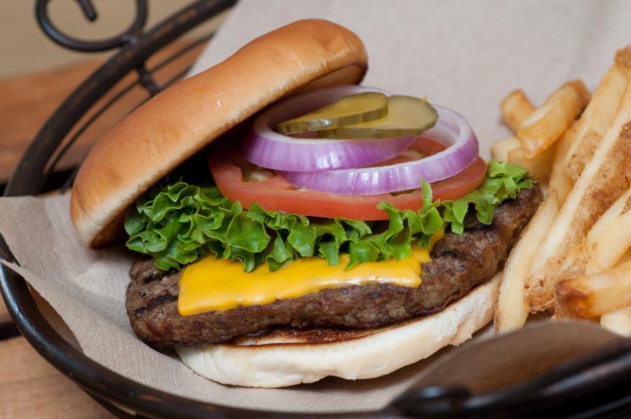 Top Zagat burger at Old Rock Cafe