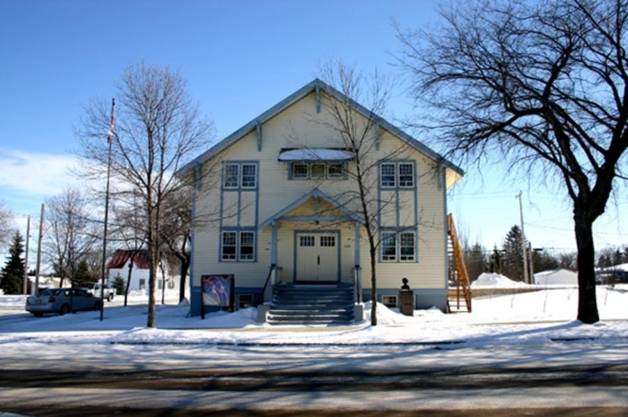 Manitou Opera House in winter