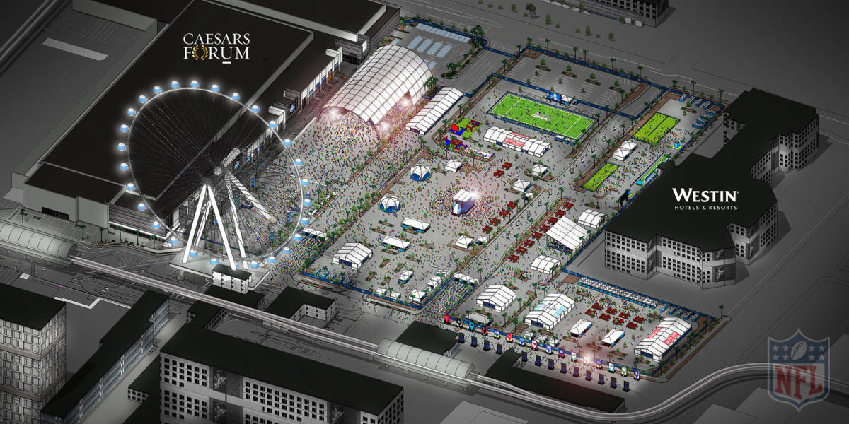 NFL Draft Experience - Stage Location Rendering