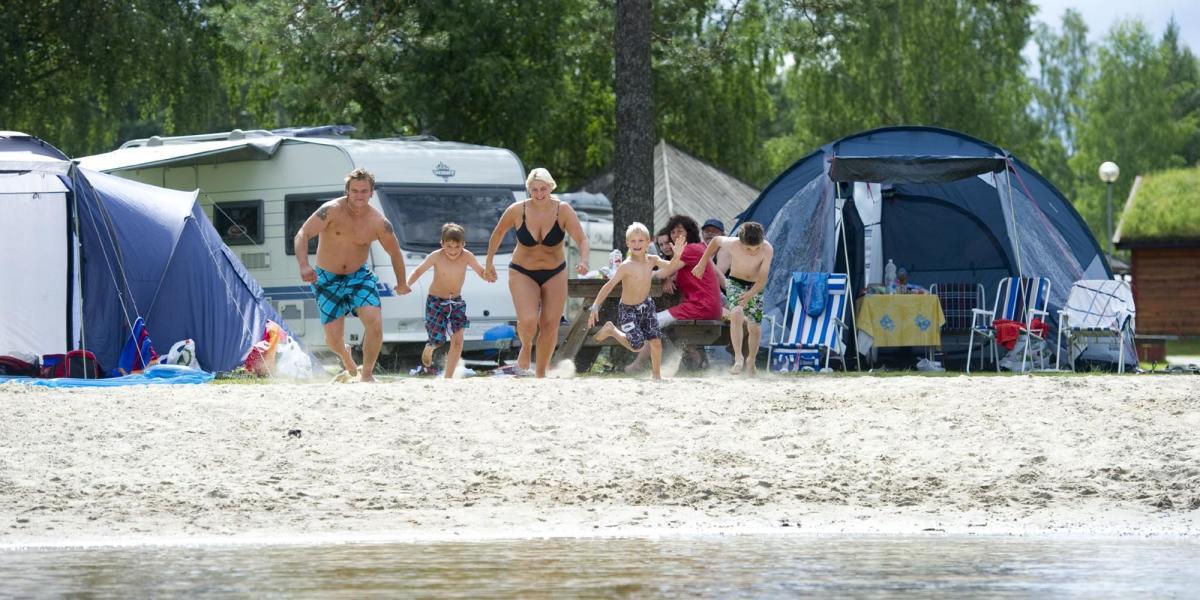 Camping og strand