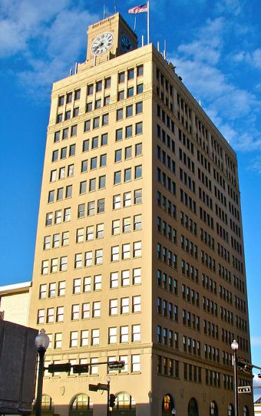 San Jacinto Building in downtown Beaumont