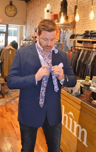 HIM Gentleman's Boutique blue coat fashion