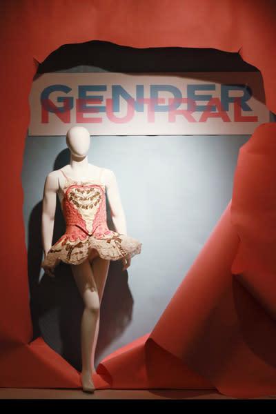 Mannequin at National Dance Museum's Gender Neutral exhibit