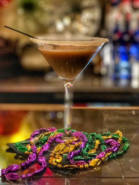 King Cake Martini | Charleston Bistro in Lake Charles, LA