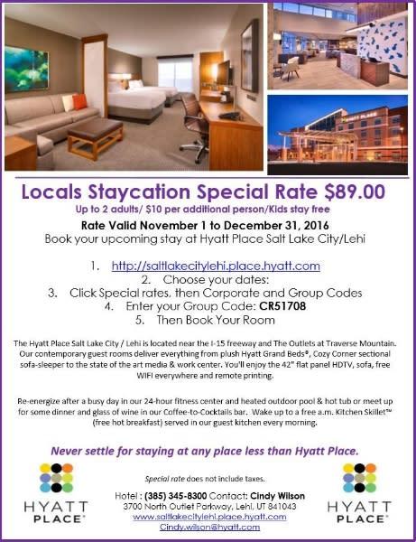 Hyatt Staycation 2016