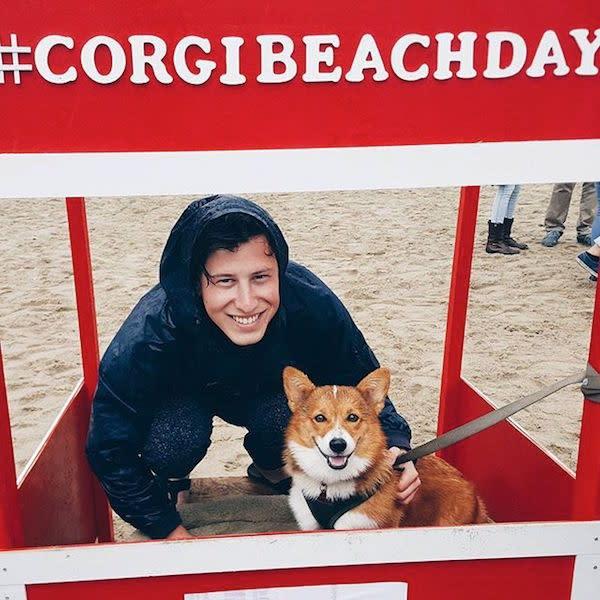 @jmozer33 and his corgi pal.