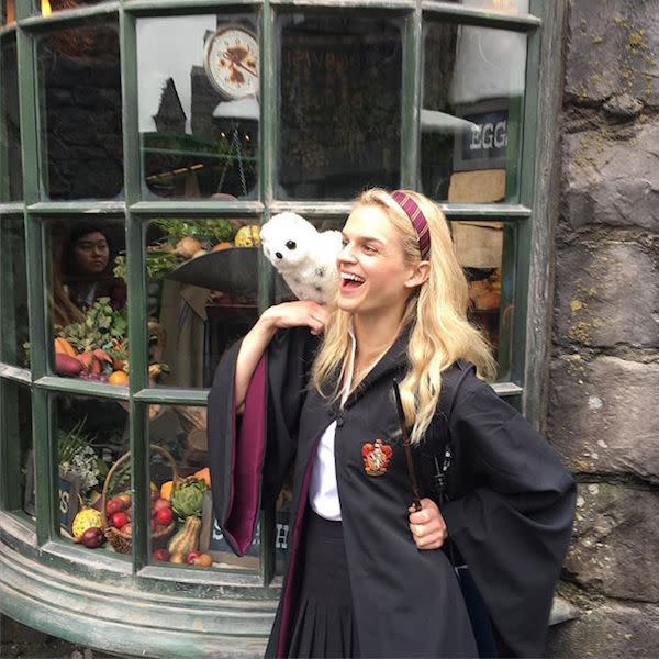 @msyouher Visiting the new Wizarding World of Harry Potter in Hollywood