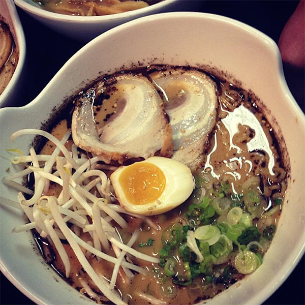 Sobo Ramen noodle soup with egg