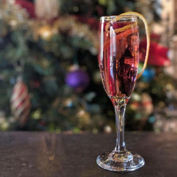 Red Nose Spritzer holiday drink by City Kitchen