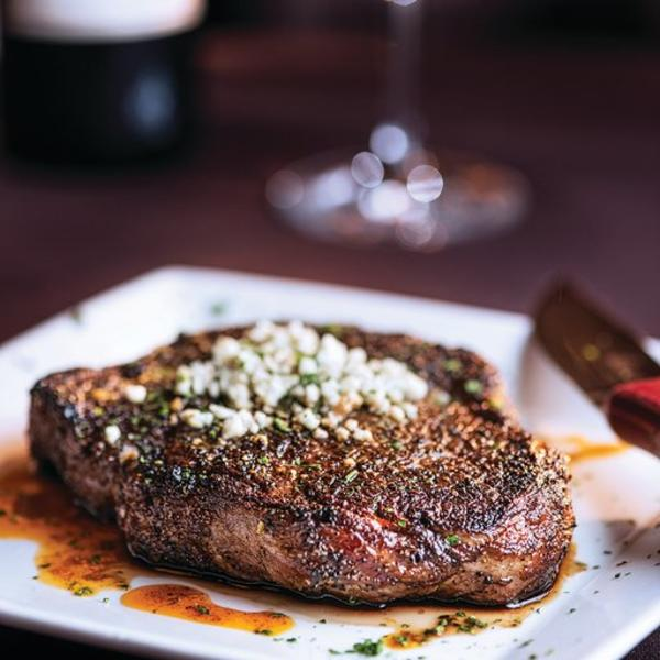 Perfectly cooked steak served at Perry's Steakhouse & Grille.