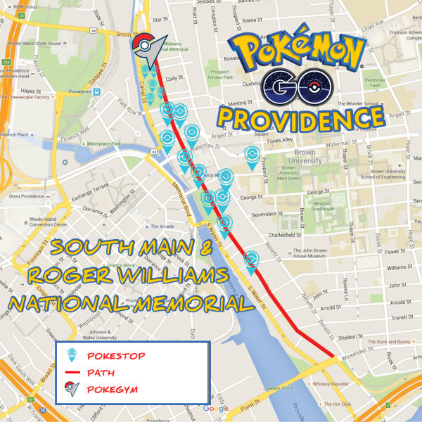 GUIDE TO POKÉMON GO PROVIDENCE: SOUTH MAIN STREET