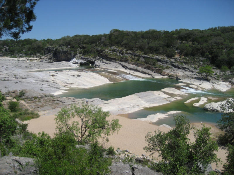Pedernales Falls state park outside of Austin Texas