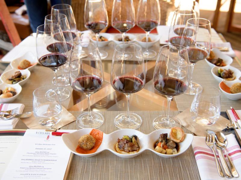 B Cellars food and wine pairing