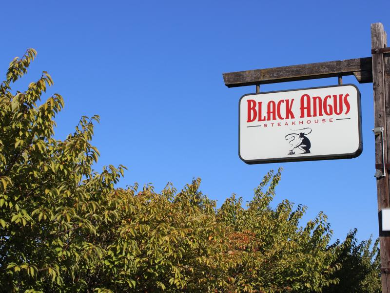 black angus sign