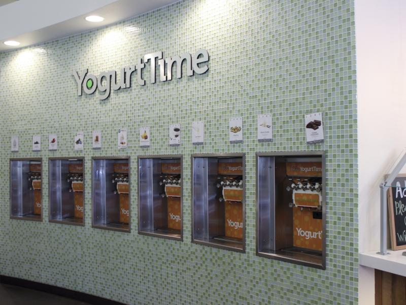 Yogurt Time froyo wall