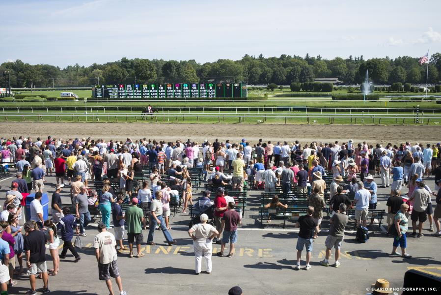 Crowd at Saratoga Race Course