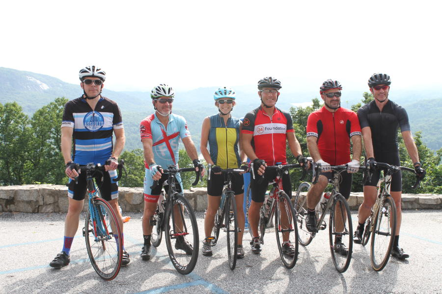 Cyclists at Lake Lure Olympiad