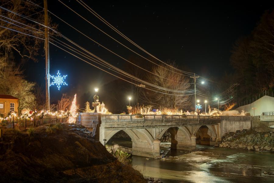 Flowering Bridge at Christmas