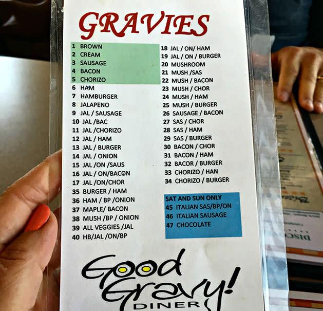 Good Gravy menu