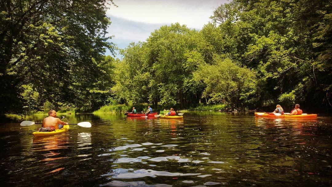 Couple Canoe