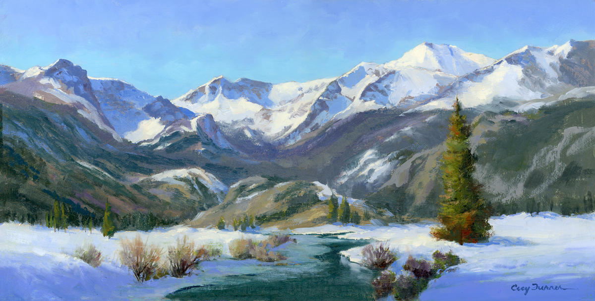 Cecy Turner Painting - Snow Aftermath