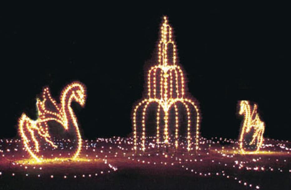 winter wonderland swans