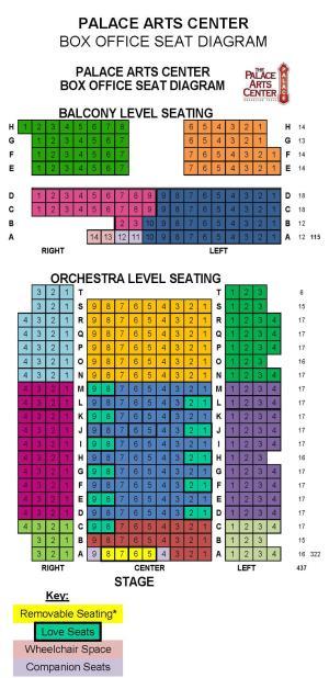 Palace Theatre Floor Diagram