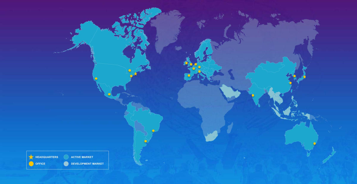 NYC & Company - Press & Media - Global Office Locations Map
