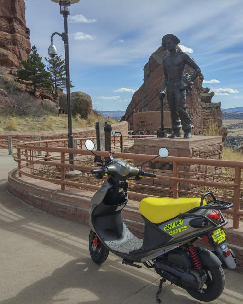 Scooter at Red Rocks Park & Amphitheatre