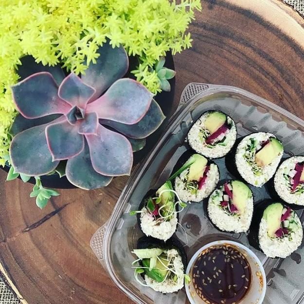 Let the Good Nost Roll | Veggie Sushi in Lake Charles Farmer Markets