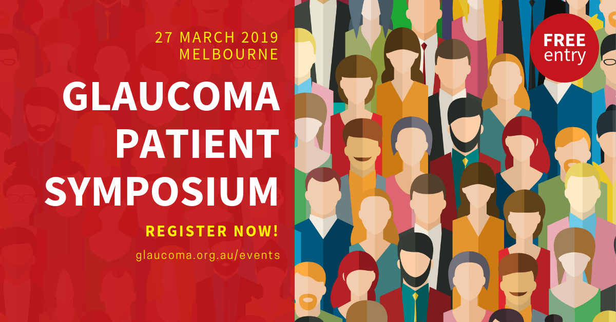 Glaucoma Australia is proud to be hosting a patient symposium and free glaucoma screening clinic at the 8th World Glaucoma Conference in Melbourne next year