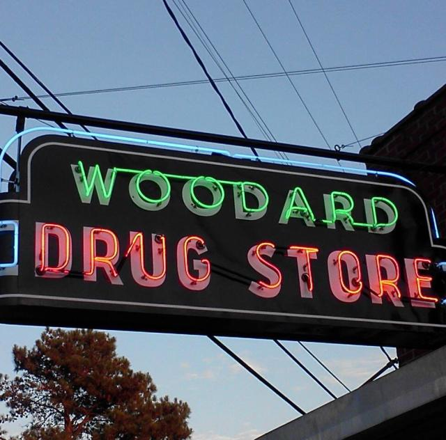 Woodard Drug Store Sign