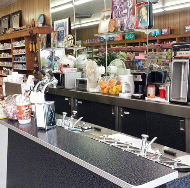 Creech Drug Soda Founatin Counter