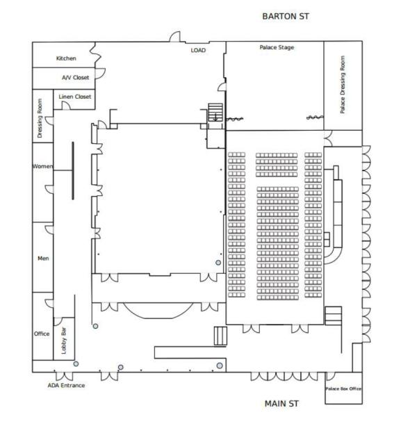 Palace Arts Center Diagram