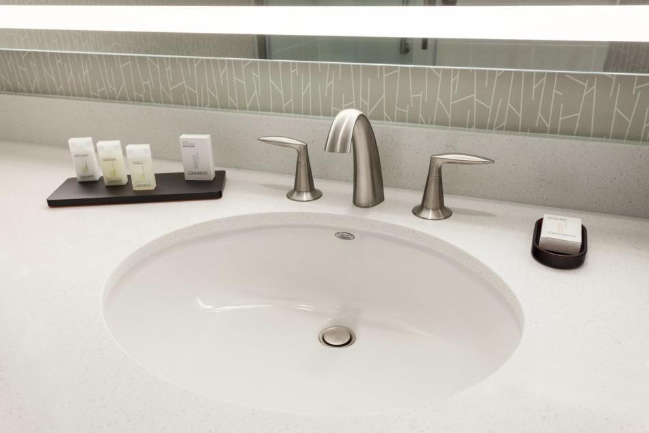Embassy Suites king suite bathroom