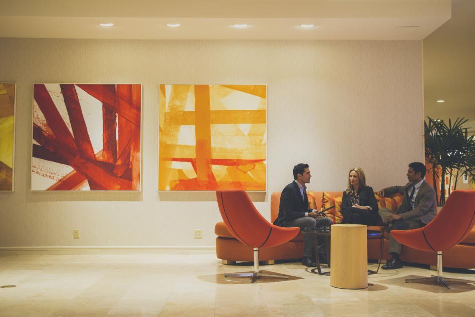 Hotel Irvine lobby area