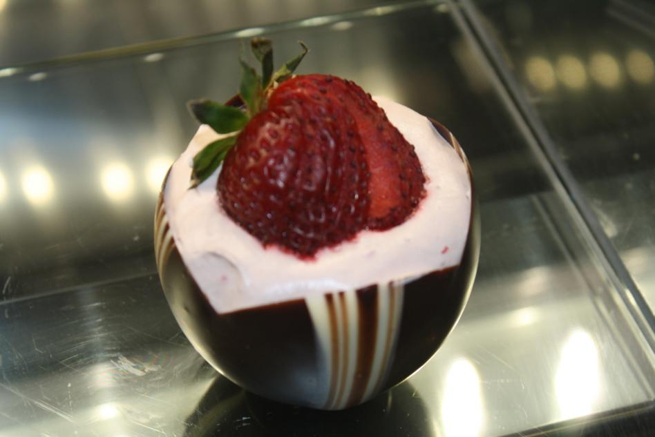 Stawberry Creme in a Chocolate Cup