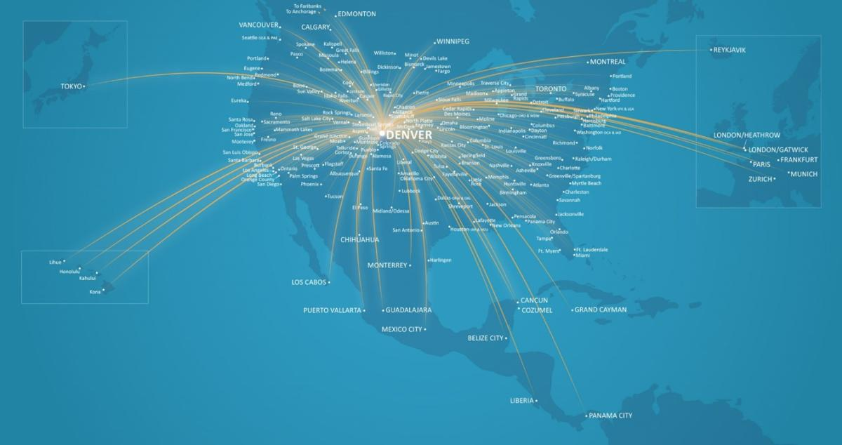 2018 Denver Airport Nonstop Service Network