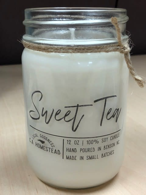 C.A. Homestead Candle sweet tea scent
