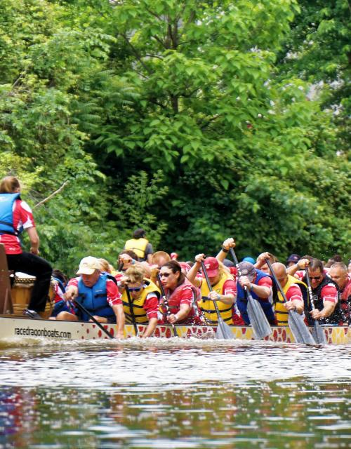 Riverpalooza Dragon Boat Races 2015 - Fort Wayne,IN