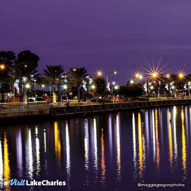 #VisitLakeCharles Photo of the Month | Maggie Gregory _ Seawall Reflections