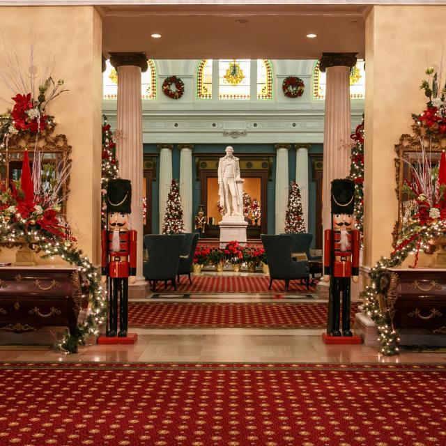 Holiday Palm Court at The Jefferson Hotel