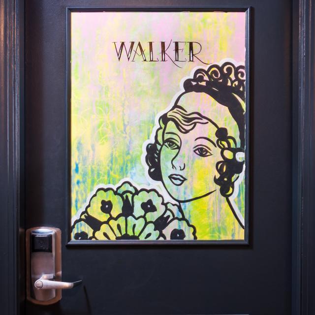 Tattooed Guestroom Entrance Door