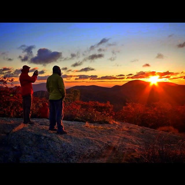 Blue Ridge Mountains Sunlight - Fall Photo