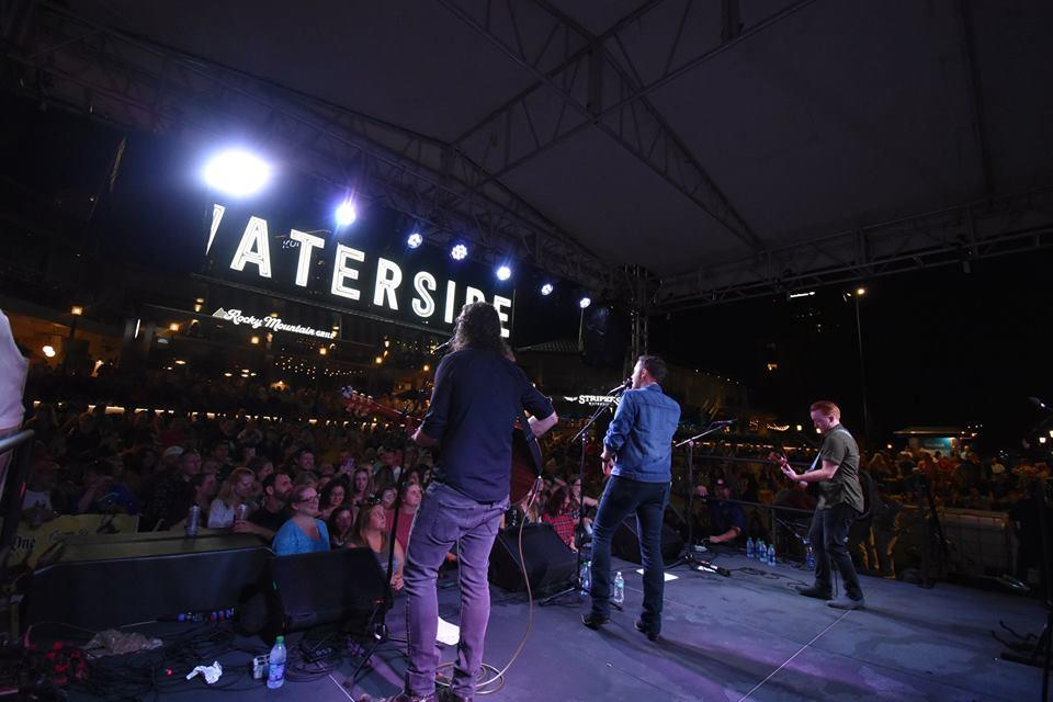Group on Stage at Waterside Concert