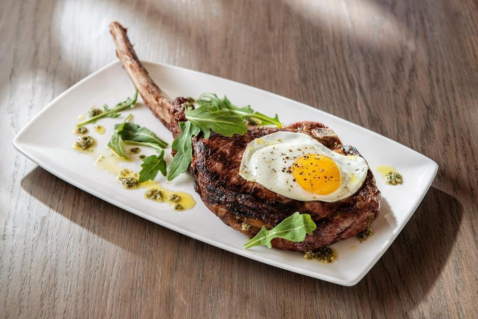 Tomahawk Steak With Egg