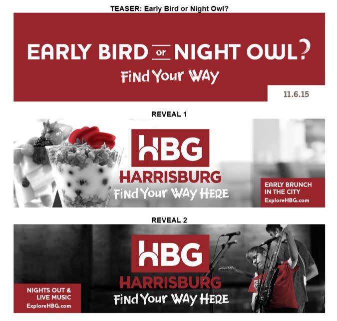 ExploreHBG Launch - Teaser and Reveal Campaign Visuals - RED